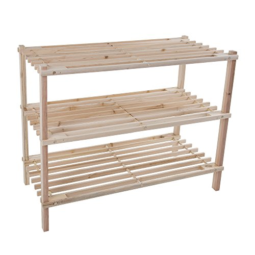Lavish Home Wood Shoe Rack, Storage Bench – Closet,...
