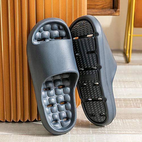 ZZLHHD zapatos de ducha, zapatillas de baño, casa interior, zapatillas ligeras, -gray_40-41, zapatillas de spa
