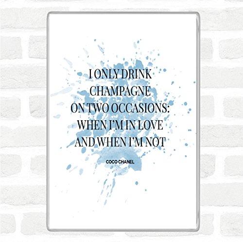 Coco Chanel Champagne Inspirational Quote Jumbo Koelkast Magneet
