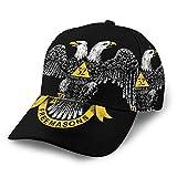 Freemasonry and Scottish Rite Unisex 3D Printing Classic Baseball Cap Snapback Flat Bill Hip Hop Hats Black