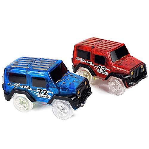ALYHYB 2 PCS Vehículos, Mini Mini Juguetes Automóviles con Luces, Coche con Motor, Padre-Infantil Interactive Toy, Regalos Frescos para 3 4 5 6 7 años de Edad Niños Chicas Cumpleaños Cumpleaños