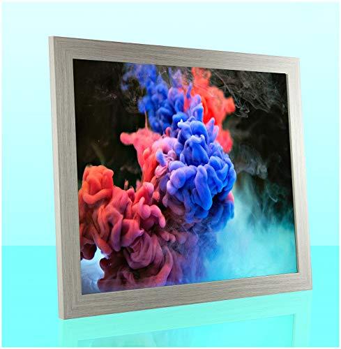 1a Bilderrahmen Orion Pinie gekälkt Dekor 37,5 x 98 cm kantig Puzzle modern stabil eckig hochwertig preiswert mit antireflex Kunstglas