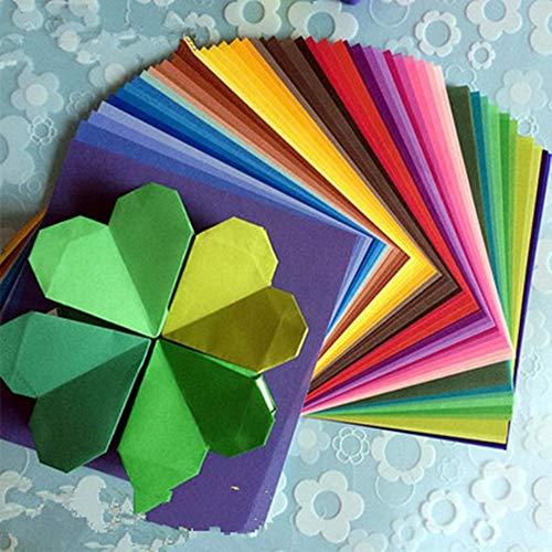 JONJUMP Origami-Papier, Kraniche, Bastelpapier, Blumen, Origami, Faltpapier, Scrapbooking, Dekoration, Muster in 50 Farben