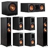 Klipsch 7.1 System with 2 RP-5000F Floorstanding Speakers, 1 Klipsch RP-500C Center Speaker, 4 Klipsch RP-500M Surround Speakers, 1 Klipsch SPL-120 Subwoofer
