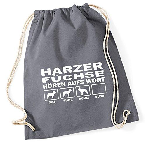 Turnbeutel - HARZER FUCHS Altdeutscher Hütehund Harz Füchse - HÖREN AUFS WORT Baumwoll Tasche...