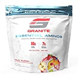 Granite® Essential Amino Acids + Branched Chain Amino Acids + Electrolytes (Fruit Punch Flavor) | 10g EAAs + 7g BCAAs | Supports Muscle Growth | Soy Free + Gluten Free + Vegan | Made in USA