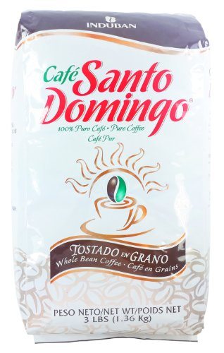 Santo Domingo Whole Roasted Bean Dominican Coffee New 3 Pounds Pack