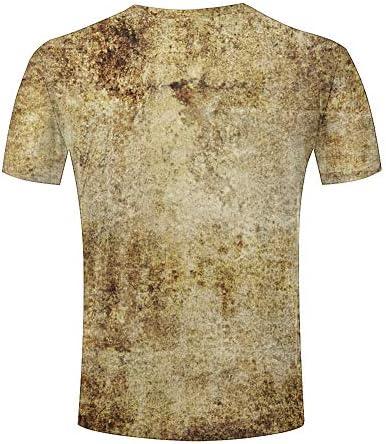 Camiseta para Hombre Textura marrón Funny Impreso Camisetas ...