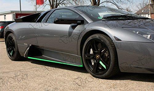 Oracal Fluorescent 6510 Neon Grün 1mx20cm, selbstklebende Autofolie mit Auffallgarantie