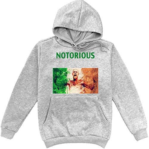 Sartamke Notorious Fighter Conor McGregor Grauer Unisex Sweatshirt Hoodie Pullover Medium