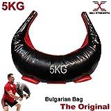 Max Strength Bulgarian Bag - Synthetic Leather Supple Bulgarian Bag used as Weight Lifting Bag, Fitness Bag, Training Bag, Lift Bag, Judo,Grappling