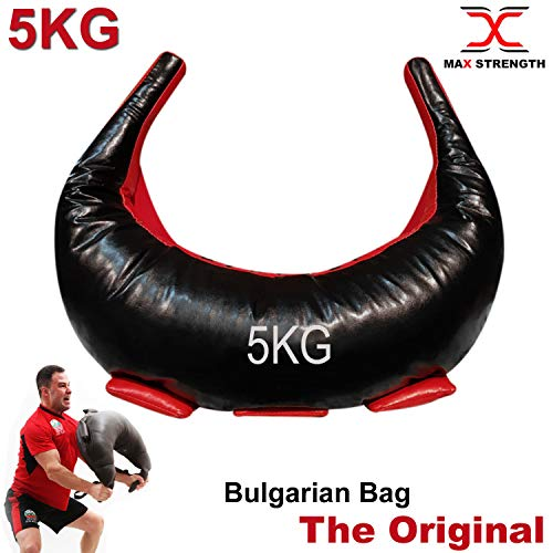 Max Strength Bulgarian Bag - Synthetic Leather Suples Bulgarian Bag used as Weight Lifting Bag, Fitness Bag, Trainning Bag, Lift Bag, Judo, Crossfit, Grappling