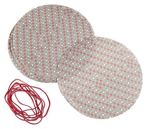 Dr. Oetker Deckchen-Set+Gummis, Papier, braun/weiß/rot, 16 x 16 x 0,1 cm, 8-Einheiten