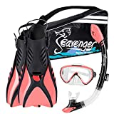 Seavenger Voyager Snorkeling Set | Travel Fins, Snorkel, Mask and Gear Bag