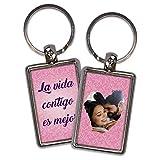 Llavero Amor Personalizado con Foto. Regalos San Valentin Personalizados. Llaveros Personalizados 2 Caras. Varias Diseños. Bonita Vida