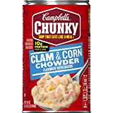 Campbell's Chunky Clam & Corn Chowder with Bacon, 18.8 oz. Can (Pack of 12)