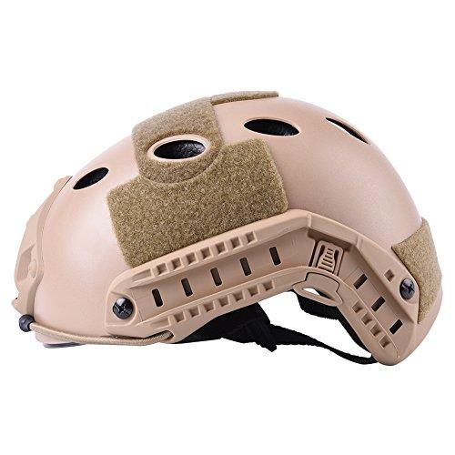 JPOYT Táctica Militar Duradera Airsoft, Paintball Protector De Casco Rápido Y Gafas