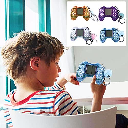 2021 1PC Tetris consola de juegos Tetris-handheld Consola de juegos Nostálgica Consola de juegos para niños Consola de juegos Tetris-Consola de juegos Regalos para niños Adultos (Azul)
