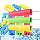 6-Pack Foam Water Blaster, Water Squirt Guns, Shooting Up to 30 Feet Outdoor Swimming Pool Summer Fun Party Games Water Toys Water Gun for Kids Teens Adults