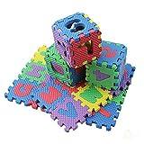 LNSGA 36 unids número Letra Rompecabezas Estera alfanumérico Espuma 3D Rompecabezas Suave bebé rastreo Espuma Alfombra Educación temprana Herramienta de Entrenamiento