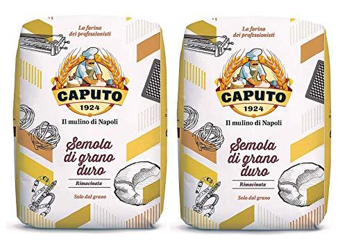 Antico Molino Caputo Semola Di Grano Duro Rimacinata (Reground Semolina Flour) - Pack 4