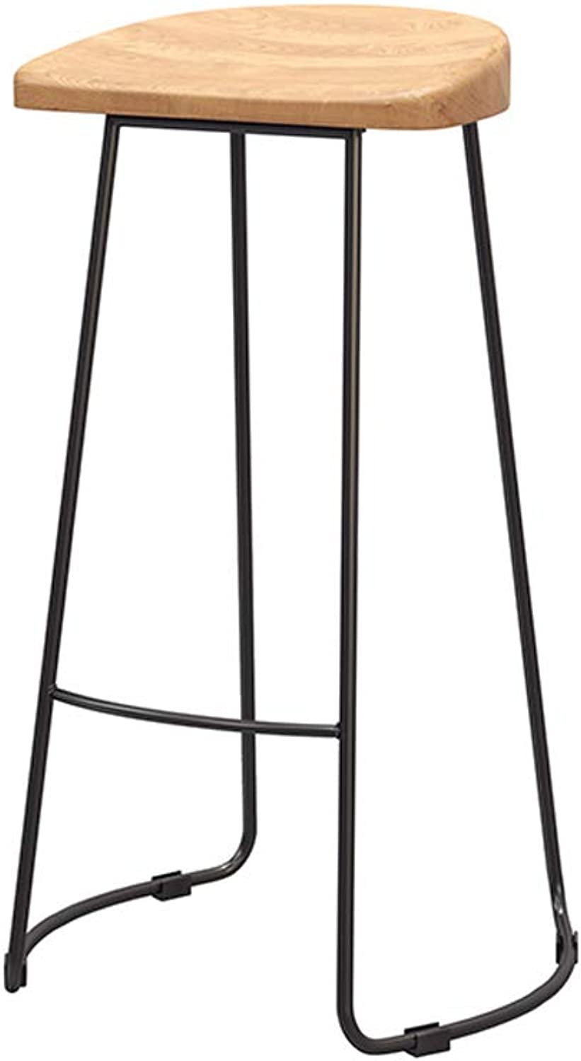 Xiao Jian Nordic Solid Wood Bar Stool High Stools Home Bar Chair Beauty Stool Front High Chair Bar Chair (color   B)
