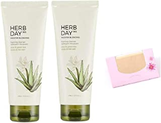 SoltreeBundle 2 Pack of Herb Day 365 Aloe Cleansing Foam 5.75 Oz/170ml with SoltreeBundle Natural Hemp Paper 50pcs