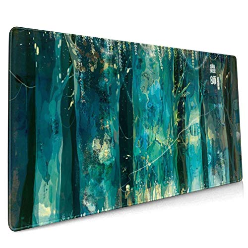 Mushishi Office,Study,Desk Mat,Shopping,Gaming Mouse Pad,Stitched Edges,Oversized Non-Slip Rubber,Extended Game Racing Mouse Pad 40 X 90 cm (15.8x35.5 Inches)