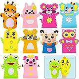 Juego de 10 Niños Marionetas Manualidades Kit,Kits de Costura de Animal, Kits de Costura de Marionetas, Mano Kit de Artesanía Animal para Artes y Manualidades de Bricolaje