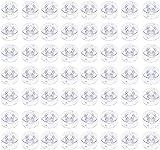 OBSGUMU 100Pezzi Bobina di Plastica per Macchina da Cucire Vuoto per Brother Janome W6 Babylock Kenmore Singer