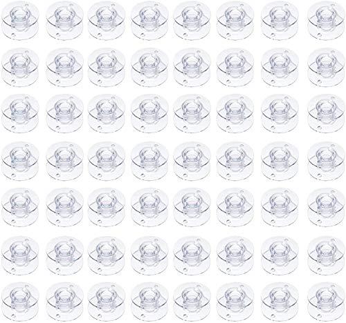 OBSGUMU 100Piezas Claro El Plastico Bobinas Para Máquinas de Coser por Hermano cantante Babylock Janome Kenmore