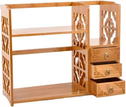 seguro de calidad YGXR Librerias de Madera para Libros, Librería con con con cajones Estante de Almacenamiento de Escritorio de bambú de 50 x 25 x 50cm para estantería de Escritorio para el hogar y la Oficina  ¡no ser extrañado!
