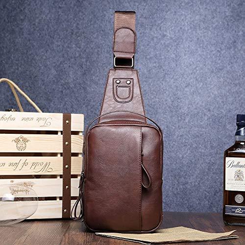 Confortable Sac à bandoulière for Homme Sac à bandoulière Sac à bandoulière for Homme Élégant (Couleur : Marron)