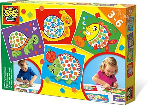 SES Creative SES Ik leer mozaïek leggen educatief speelgoed, meerkleurig