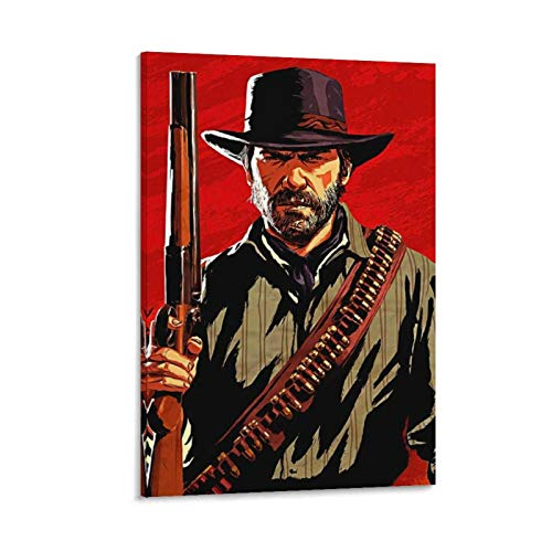 Arthur Morgan Poster Decorative Painting Canvas Wall Art Living Room Posters Bedroom Painting 16x24inch(40x60cm)