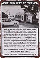 Shimaier 壁の装飾 メタルサイン 1963 Airstream Trailers ウォールアート バー カフェ 縦20×横30cm ヴィンテージ風 メタルプレート ブリキ 看板
