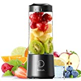 [2021 Newly Upgraded Version]Hotsch Portable Blender, 13.5 Oz Personal Blender for Shakes and Smoothies, Mini Blender with Six Blades, Handheld Blender USB Rechargeable for Sports, Office, Travel, Gym and Outdoors(Black)