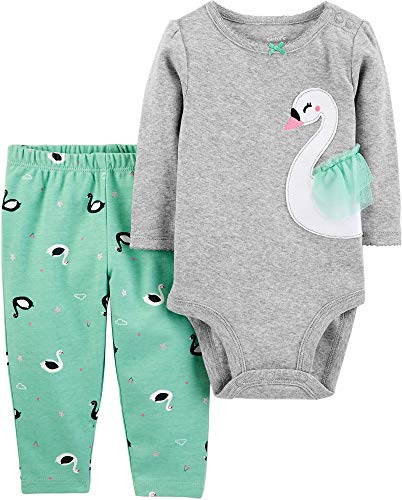 Carter's Baby Girls' Bodysuit Pant Sets (9 Months, Green