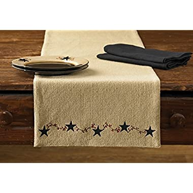 Park Designs Burlap Star Table Runner, 13 x 36