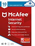 McAfee Internet Security 2021, 10 Device, Antivirus Software, Password Protection, 1 Year - Download Code