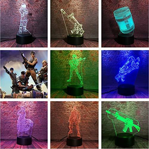 Lustre Battle Royale Spiel Tuckern Krug PUBG Schädel Soldat Dark Voyager TPS APEX Figur Souvenir Weihnachten 3D LED Nachtlicht USB Tischlampe Kinder Geburtstagsgeschenk Nachttisch Dekoration