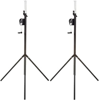 Global Truss ST-90 9 Foot Stage Lighting Light Duty Crank Stand 2 Pack