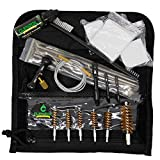CLENZOIL Field & Range Universal Gun Cleaning Kit   Rifle, Shotgun & Pistol Cleaning Kit   Includes Field & Range CLP, Bore Brushes, Patches, Rod, Cable, Handle, Nylon Brush & More!