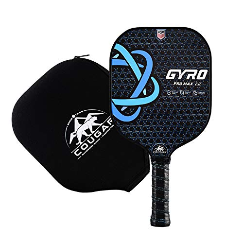 COUGAR PRO Pickleball Paddle, Advanced Graphite Face Polypropylene Honeycomb, Optima Weight and Perfect Spin Pickleball Racket for All Players