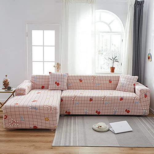 PPOS Fundas de sofá de Esquina para sofá de línea Funda de sofá elástica en Forma de L Chaise Longue Fundas de sofá Fundas de cojín indefinidas D9 1 Asiento 90-140cm-1pc