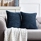 Anickal Grey Blue Pillow Covers 20x20 Inch Set of 2 Farmhouse Grey Blueic Decorative Throw Pillow Covers Square Cushion Case for Home Sofa Couch Decoration
