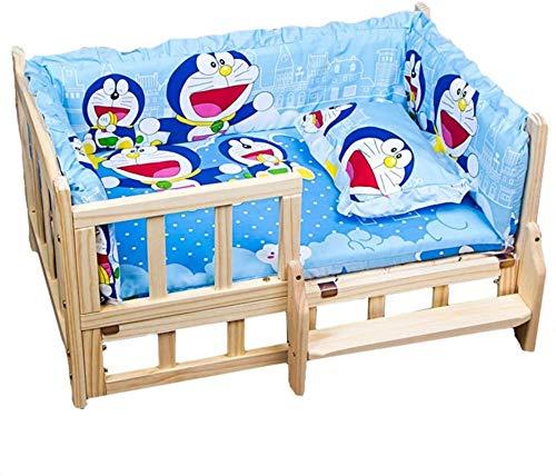Perro cama Mascotas de madera maciza, mascotas para perros Casa de cama Casa de canasta Lavable Lavable Colchón Antideslizante Cajón de perro Lineros Suministros para mascotas, M ( Size : XLarge )