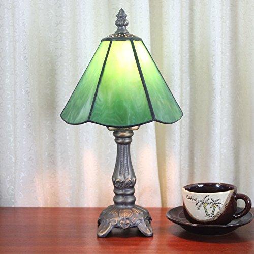 HDO 6 Zoll Grün Simple Style Pastoral Minimalist Tiffany Stil Tischlampe Nachttisch Lampe Schreibtisch Lampe Wohnzimmer Bar Lampe