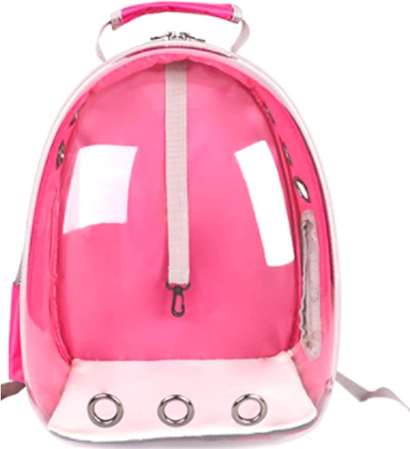 Pet Space Carrier, Transparent Waterproof Cat Holding Backpack with Builtin Safety Hook for Small Animal