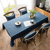 テーブルカバー上質おしゃれテーブルクロス四季用テーブルカバー (Color : Blue, Size : 140*200cm(78in))